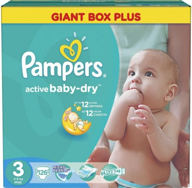 Pampers Pleny Active Baby 3 Midi (5-9kg) 126ks